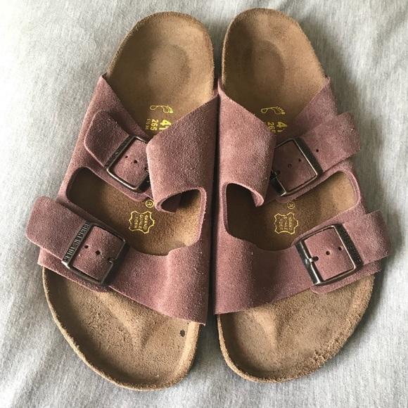 575f83a21380 Birkenstock Shoes - Birkenstock Arizona Suede Rose Pink